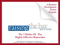 Raising the Bar With Robin Hensley